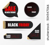 realistic banners. black friday ... | Shutterstock .eps vector #504547066
