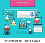 science info graphic... | Shutterstock .eps vector #504551026