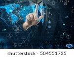 man in social networks concept   Shutterstock . vector #504551725