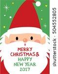 cute santa claus merry... | Shutterstock .eps vector #504552805