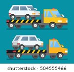 evacuation car  road assistance ... | Shutterstock .eps vector #504555466