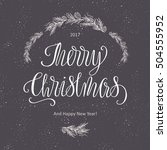 merry christmas lettering and...   Shutterstock .eps vector #504555952