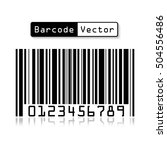 bar code vector on white... | Shutterstock .eps vector #504556486