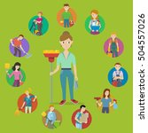 cleaning service concept vector.... | Shutterstock .eps vector #504557026