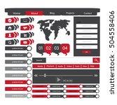 web element design | Shutterstock .eps vector #504558406
