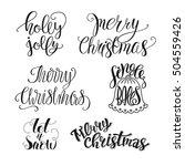 set of christmas lettering ...   Shutterstock .eps vector #504559426
