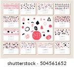 creative calendar planner for... | Shutterstock .eps vector #504561652