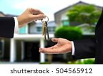 house key hand over to new the... | Shutterstock . vector #504565912