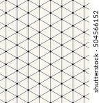 vector seamless pattern. modern ... | Shutterstock .eps vector #504566152