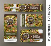 corporate identity vector... | Shutterstock .eps vector #504567022