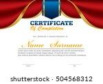 horizontal certificate template ... | Shutterstock .eps vector #504568312