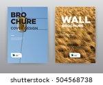 yellow grass and blue sky...   Shutterstock . vector #504568738