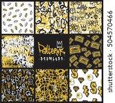 big set of seamless patterns ... | Shutterstock .eps vector #504570466