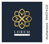 vector luxury logo template ... | Shutterstock .eps vector #504574132