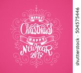 merry christmas and happy new... | Shutterstock .eps vector #504575446