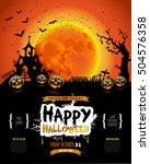 happy halloween poster ... | Shutterstock .eps vector #504576358