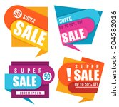 super sale  vector collection... | Shutterstock .eps vector #504582016