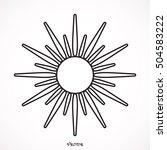 sun icon | Shutterstock .eps vector #504583222