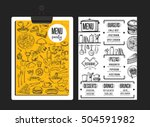 restaurant menu placemat food... | Shutterstock .eps vector #504591982