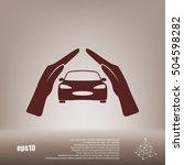 car insurance icon  on white... | Shutterstock .eps vector #504598282