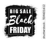 black friday. vector design for ... | Shutterstock .eps vector #504601612