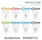 process chart  flow chart... | Shutterstock .eps vector #504606712