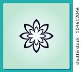 vector flower icon | Shutterstock .eps vector #504612046