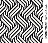 vector seamless pattern. modern ... | Shutterstock .eps vector #504616666