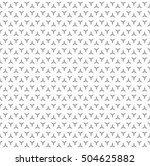 vector monochrome seamless... | Shutterstock .eps vector #504625882