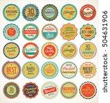 retro vintage badges and labels ... | Shutterstock .eps vector #504631906