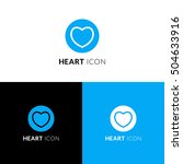 heart vector icon  logo.... | Shutterstock .eps vector #504633916