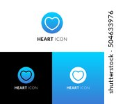 heart vector icon  logo....   Shutterstock .eps vector #504633976