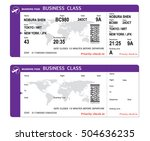 airline boarding pass with qr... | Shutterstock .eps vector #504636235