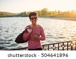 portrait of young man smiling... | Shutterstock . vector #504641896