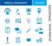 medical diagnostic vector icon... | Shutterstock .eps vector #504642205
