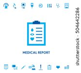 medical report diagnostic... | Shutterstock .eps vector #504642286