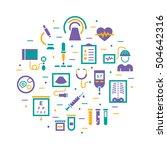 medical diagnostic vector icon... | Shutterstock .eps vector #504642316