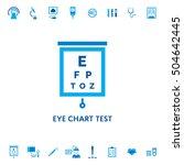 eye chart test diagnostic... | Shutterstock .eps vector #504642445