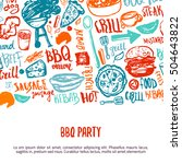 bbq opening party announcement. ... | Shutterstock .eps vector #504643822