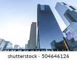 seoul   oct 03  modern part of... | Shutterstock . vector #504646126