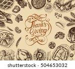 vector illustration sketch card ... | Shutterstock .eps vector #504653032