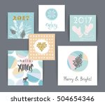 set of artistic creative merry... | Shutterstock .eps vector #504654346