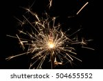 sparks in the dark. | Shutterstock . vector #504655552