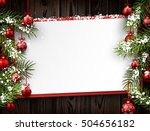 new year wooden background with ... | Shutterstock .eps vector #504656182