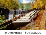 fish ladder with rapids in fall ... | Shutterstock . vector #504660202