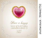 valentines day design with red... | Shutterstock . vector #504662752