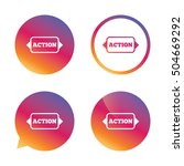 action sign icon. motivation... | Shutterstock .eps vector #504669292