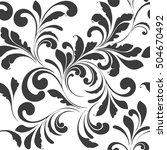 sample seamless floral pattern. ... | Shutterstock .eps vector #504670492