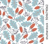 vector seamless pattern with... | Shutterstock .eps vector #504674062