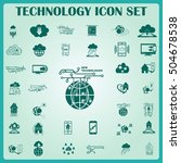 technology innovation icons set.... | Shutterstock .eps vector #504678538